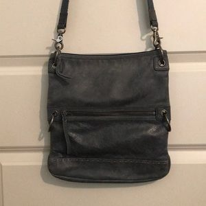 The Sak 4-way bag BLUE grayish like denim!!!!!